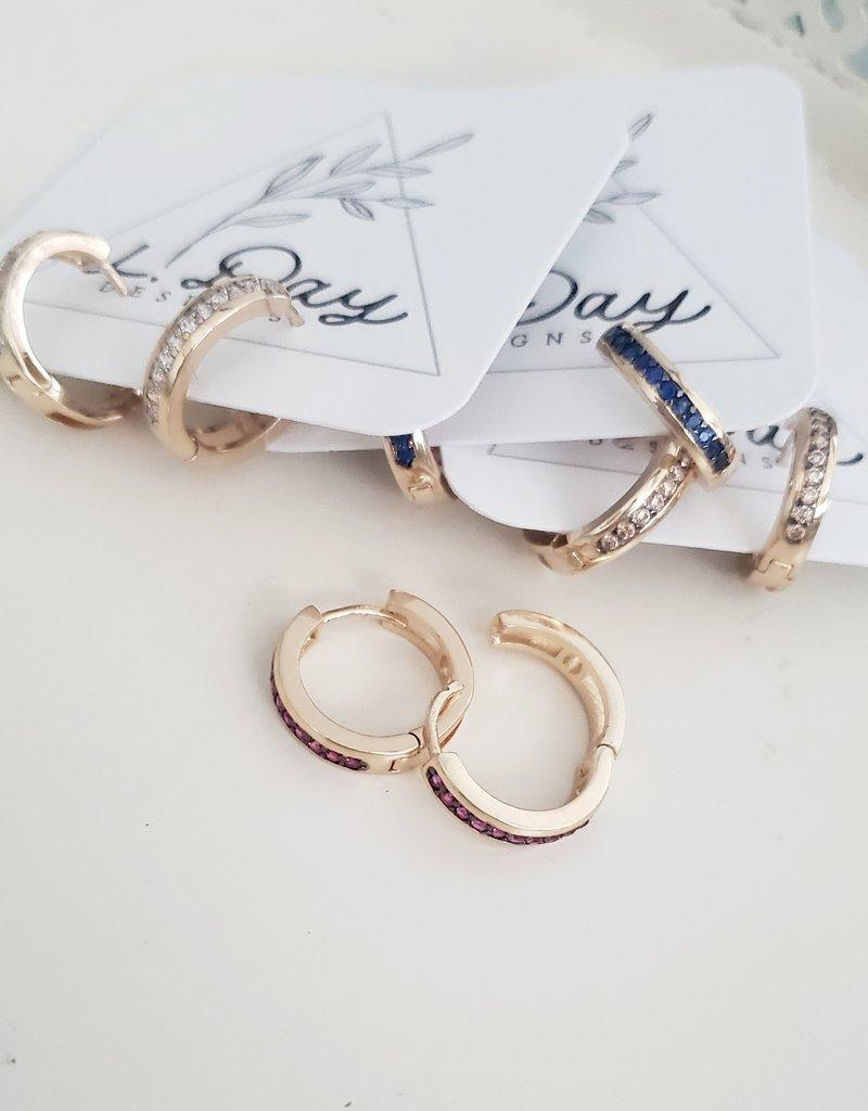 LDayDesigns Pink Crystal Hoop