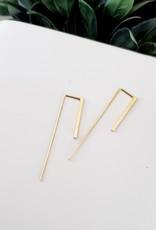 LDayDesigns Two Sided Bar Earrings/Sterling Silver