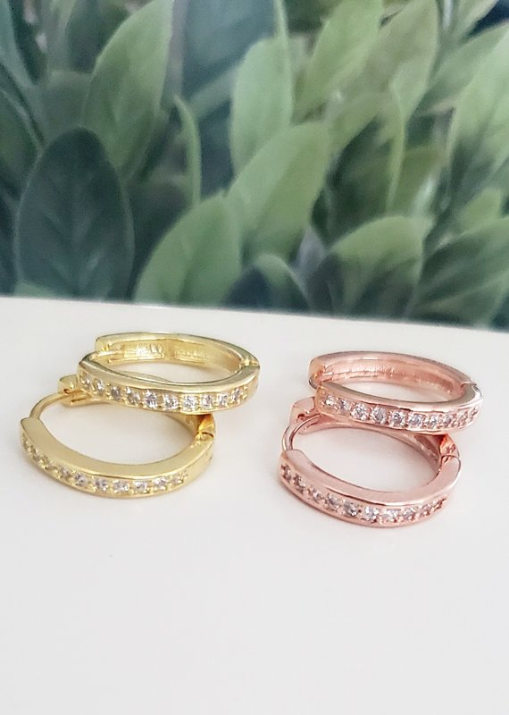 LDayDesigns Gold Crystal Hoop
