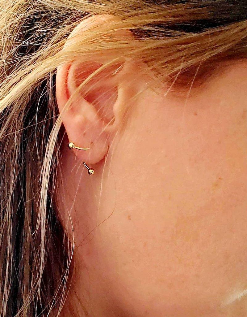 LDayDesigns Sterling Silver/18kgp Ear Twist