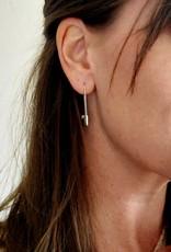 LDayDesigns Dainty Lock Earrings-Silver