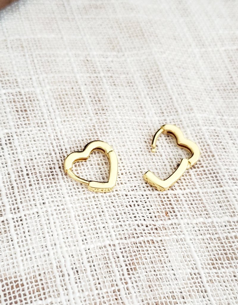 LDayDesigns Heart Latch Earrings