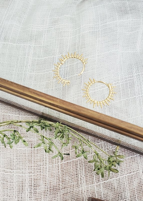 LDayDesigns Sunshine Hoops 18k Gold & Sterling