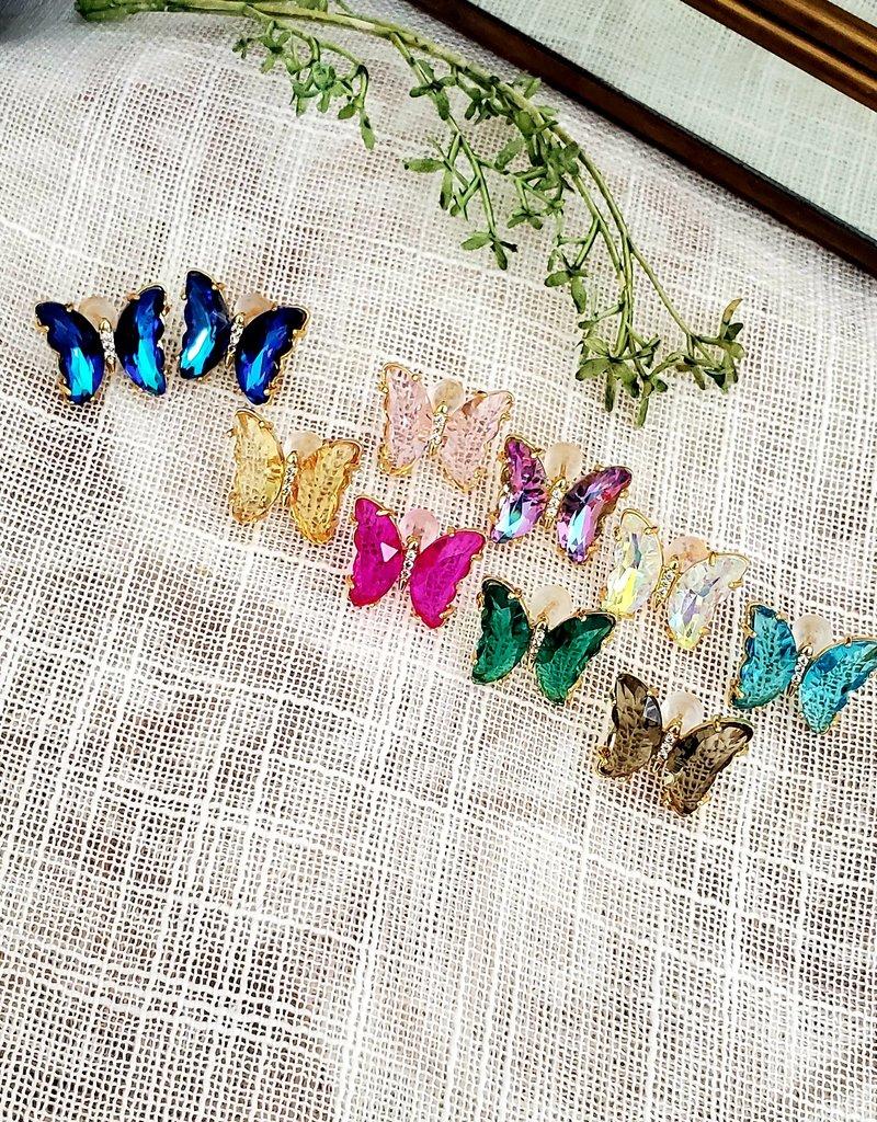 LDayDesigns Butterfly Crystal Studs