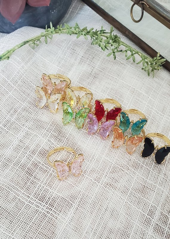 LDayDesigns Butterfly Crystal Ring