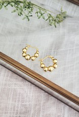 LDayDesigns 18k Gold & Sterling Silver Dots Hoop