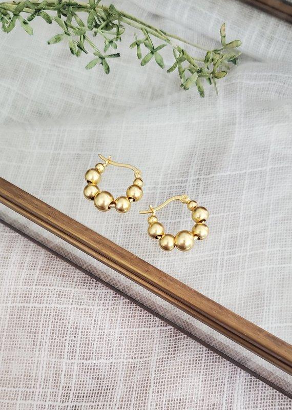 LDayDesigns 18k Gold & Sterling Silver Dots Hoop