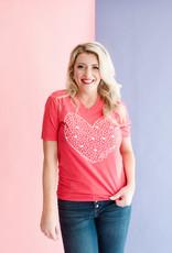 Calamity Jane's Oklahoma Heart Valentines Tee