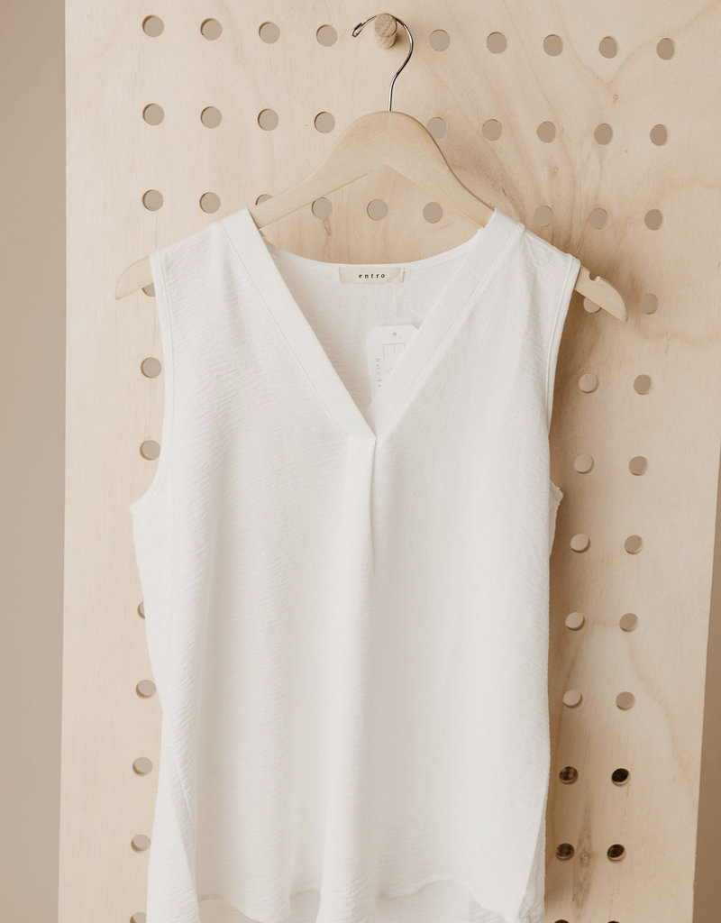 Staid Sleeveless Blouse