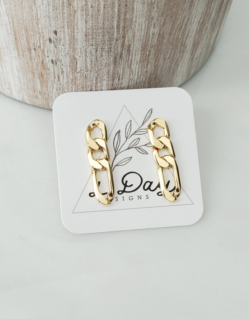 LDayDesigns Curb Chain Studs/Sterling Post
