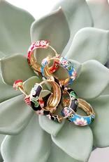 LDayDesigns Enameled Floral Hoop