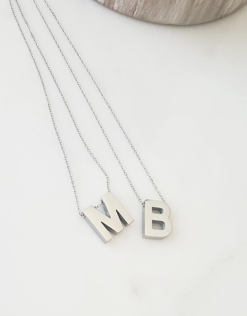 LDayDesigns Steel Block  Necklace