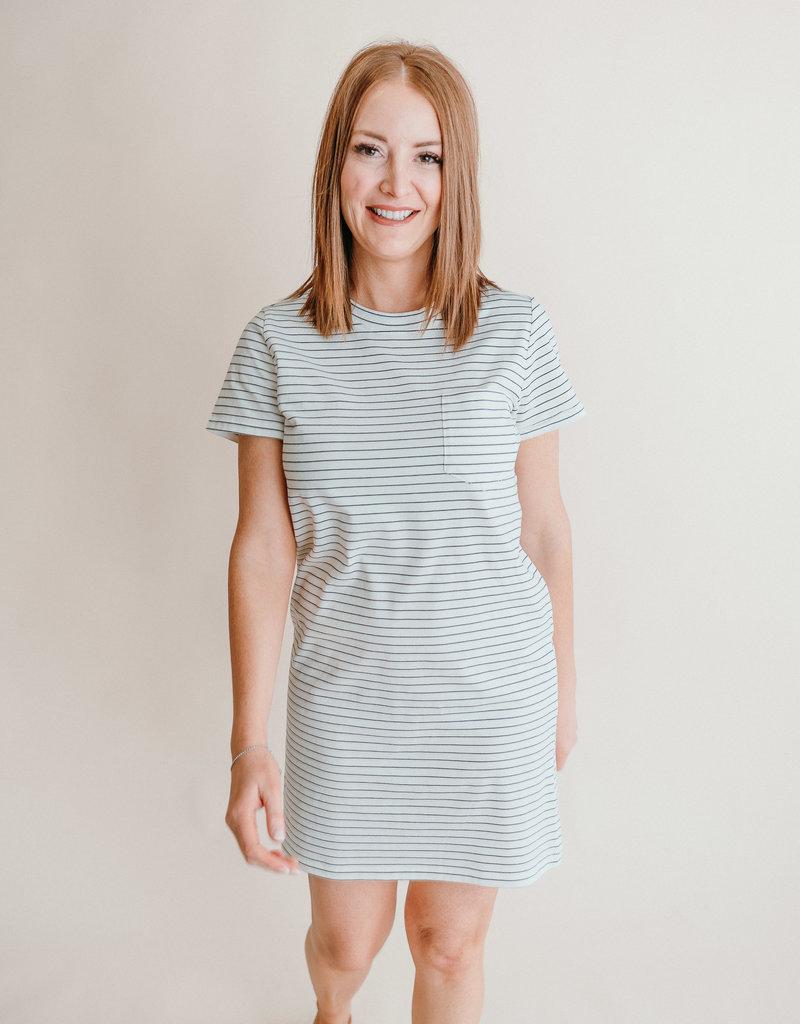 Kick Back Dress- Stripe