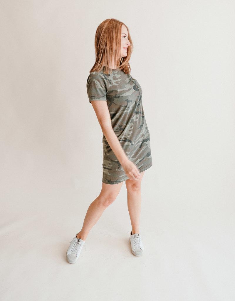 Kick Back Dress- Camo