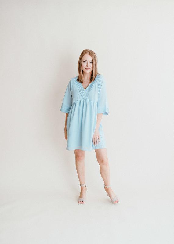 Powder Pleated Dress