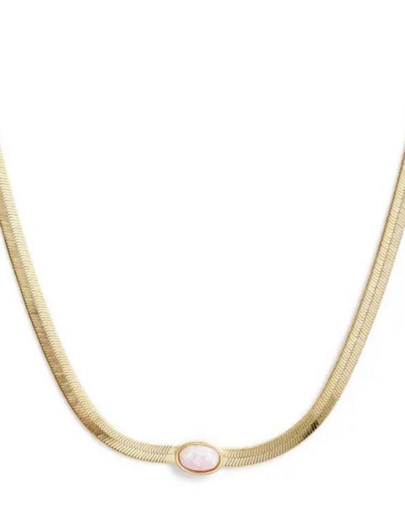 Bracha Pink Opal Necklace