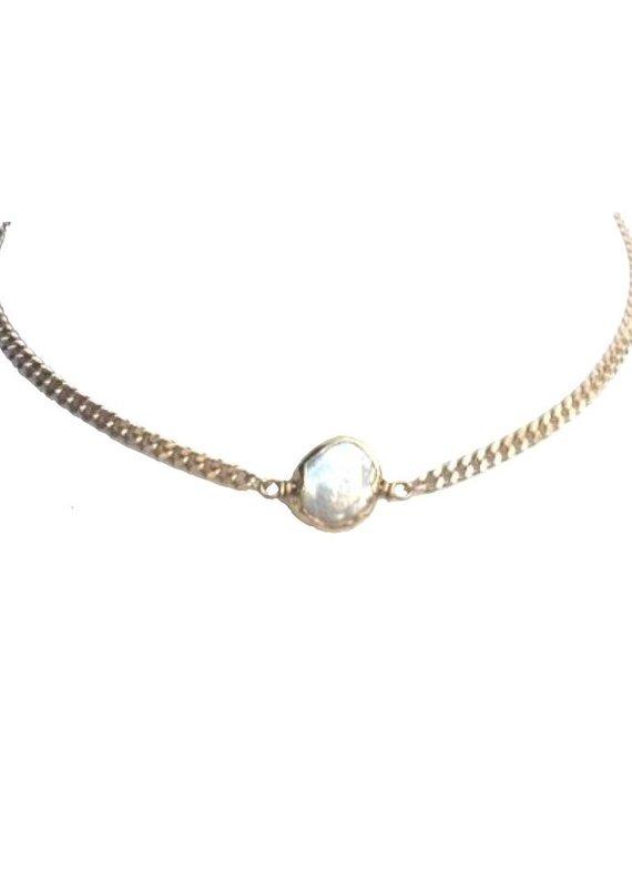 Farrah B Pearl of Wisdom Necklace