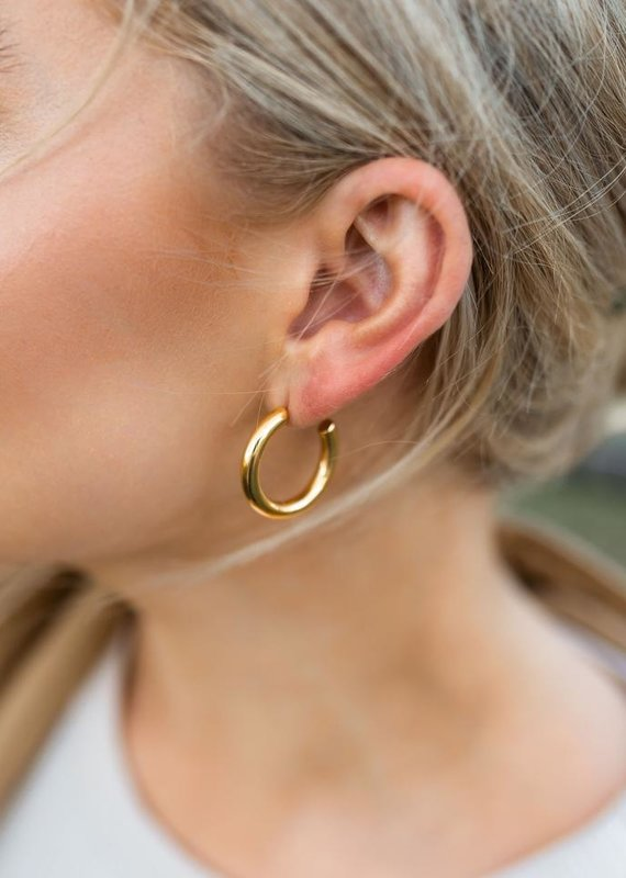 Farrah B Chunky Gold Hoops-Md
