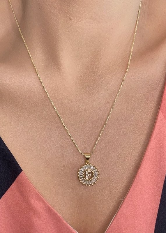 Farrah B Yours Truly Initial Necklace