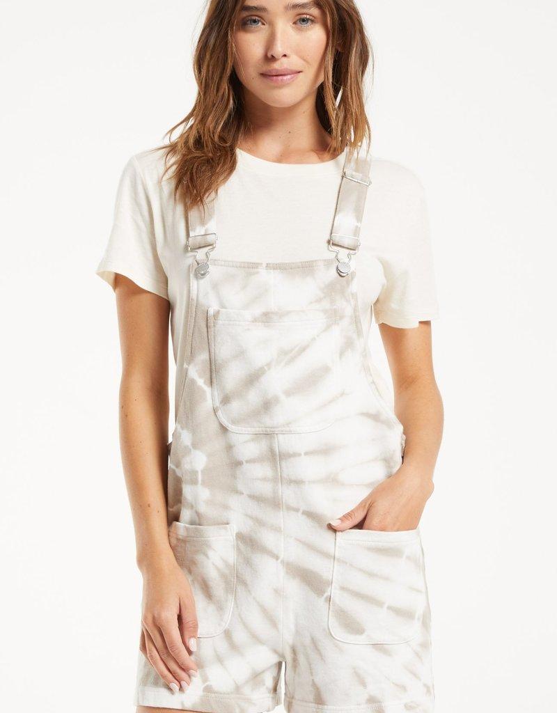 Tie-Dye Short Overalls