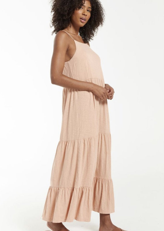 Rory Tiered Slub Dress