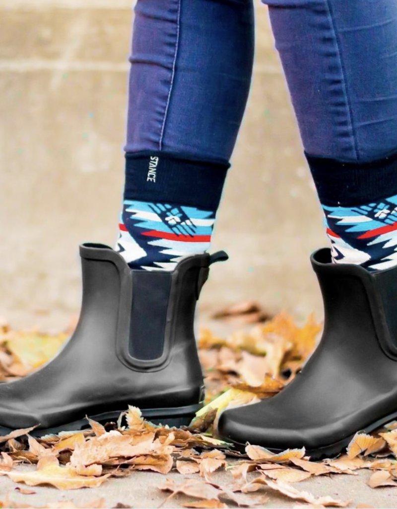 Roma Chelsea Black Rain Boots