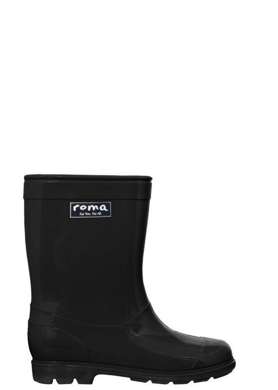 Roma Abel Black Rain Boots (Kids)