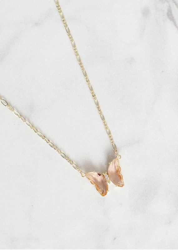 Farrah B Flighty Butterfly Necklace