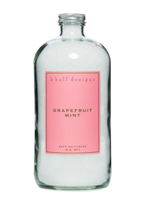 K. Hall Designs Grapefruit Mint Bath Soak