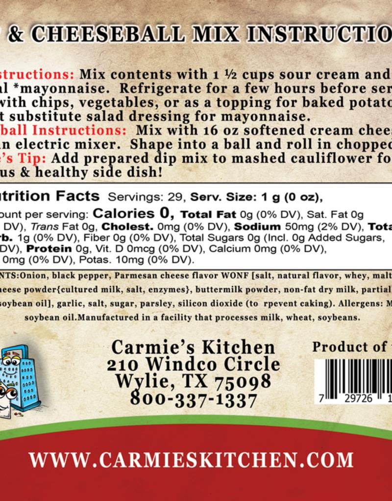 Carmie's Kitchen Peppercorn Parmesan Dip