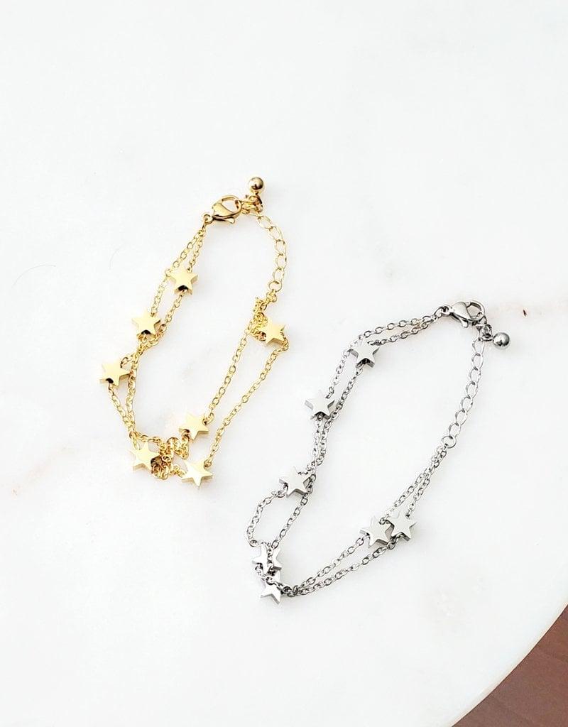 LDayDesigns Stainless Stars Bracelet - Gold