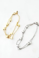 LDayDesigns Stainless Stars Bracelet- Silver