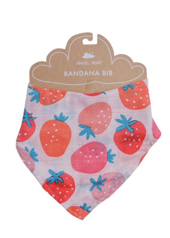 Angel Dear Strawberries Bandana Bib