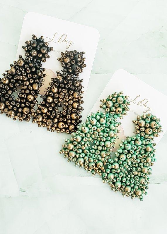 LDayDesigns Summer- Puffy Beads Triangle