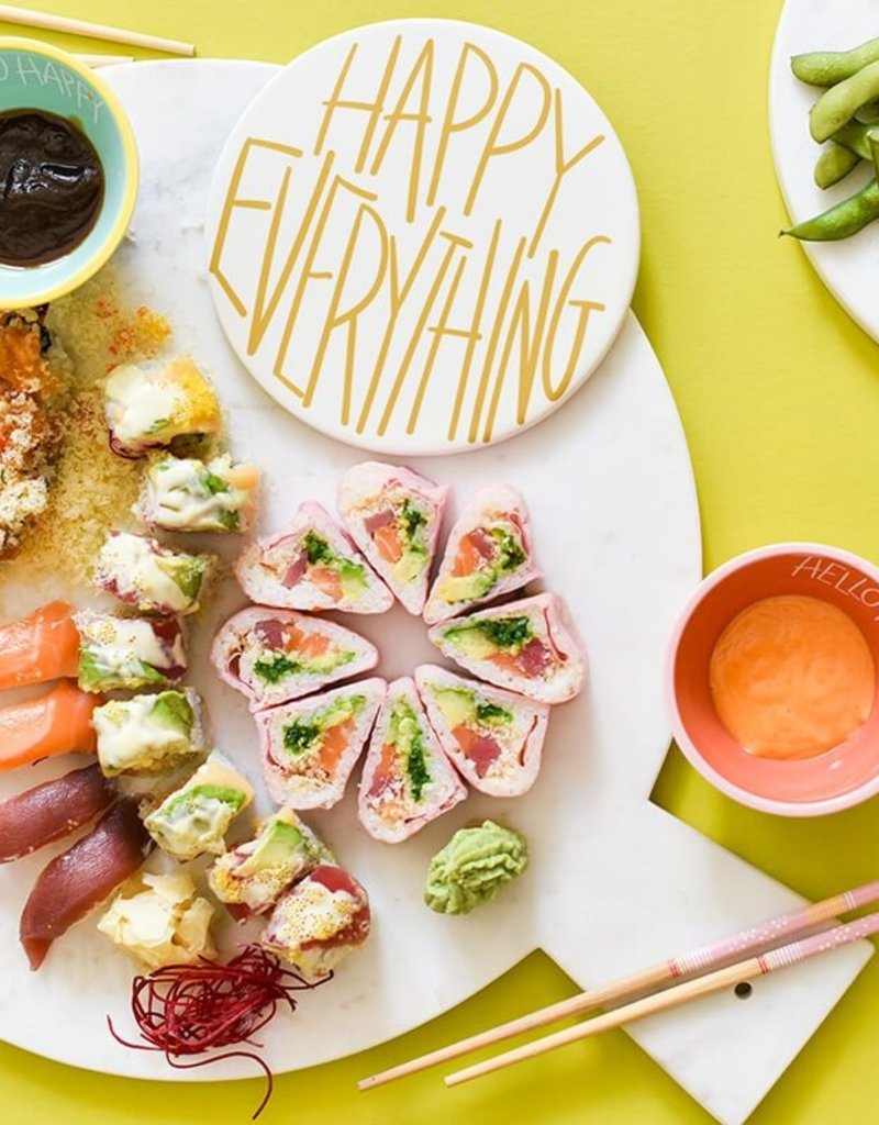 Happy Everything Big Marble Serving Board