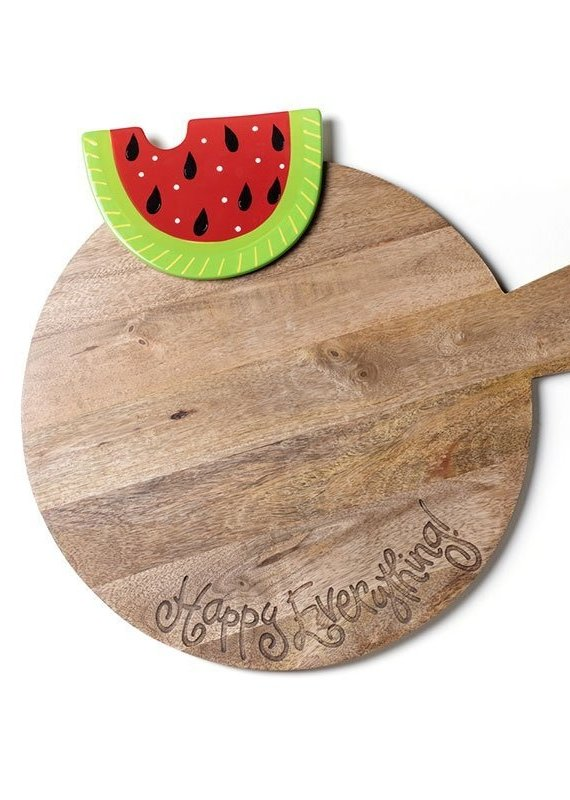 Happy Everything Big Wood Serving Board