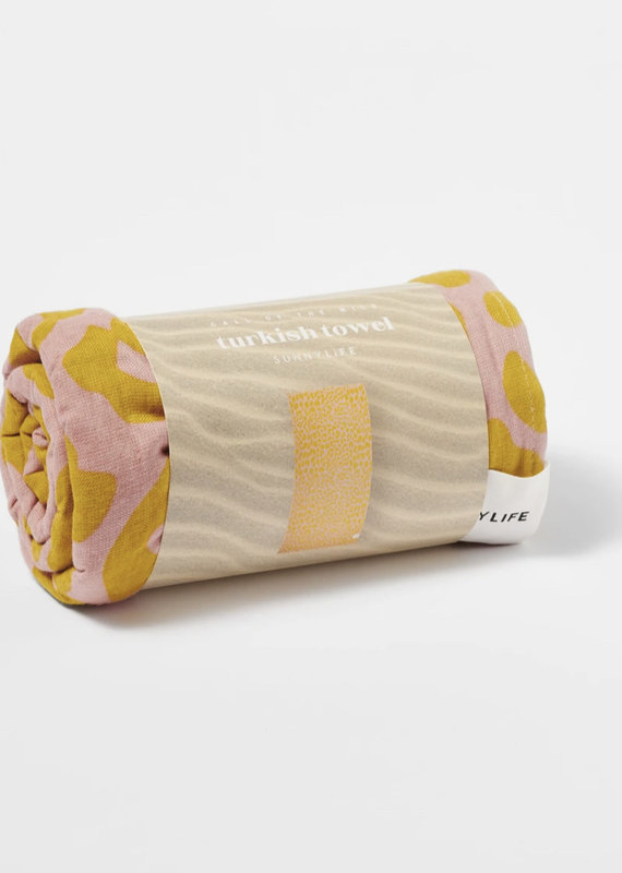 Sunny Life Turkish Towel- Peachy Pink