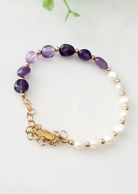 LDayDesigns Stone & Pearl Bracelet