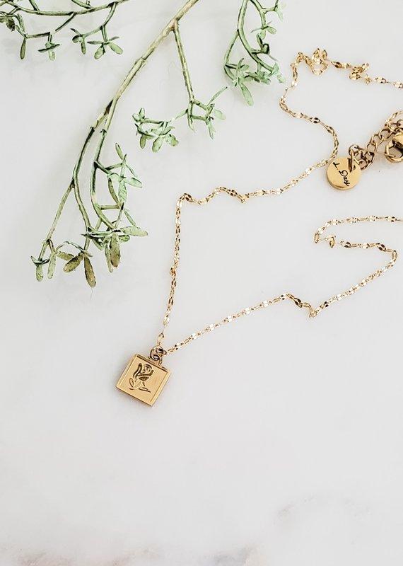 LUX Garden Rose Necklace