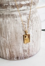LUX Brilliant Sun Necklace - Steel & 18k Gold