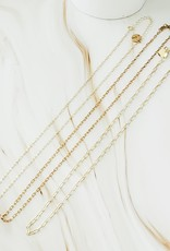 LUX Dainty 18k Paperclip Layer