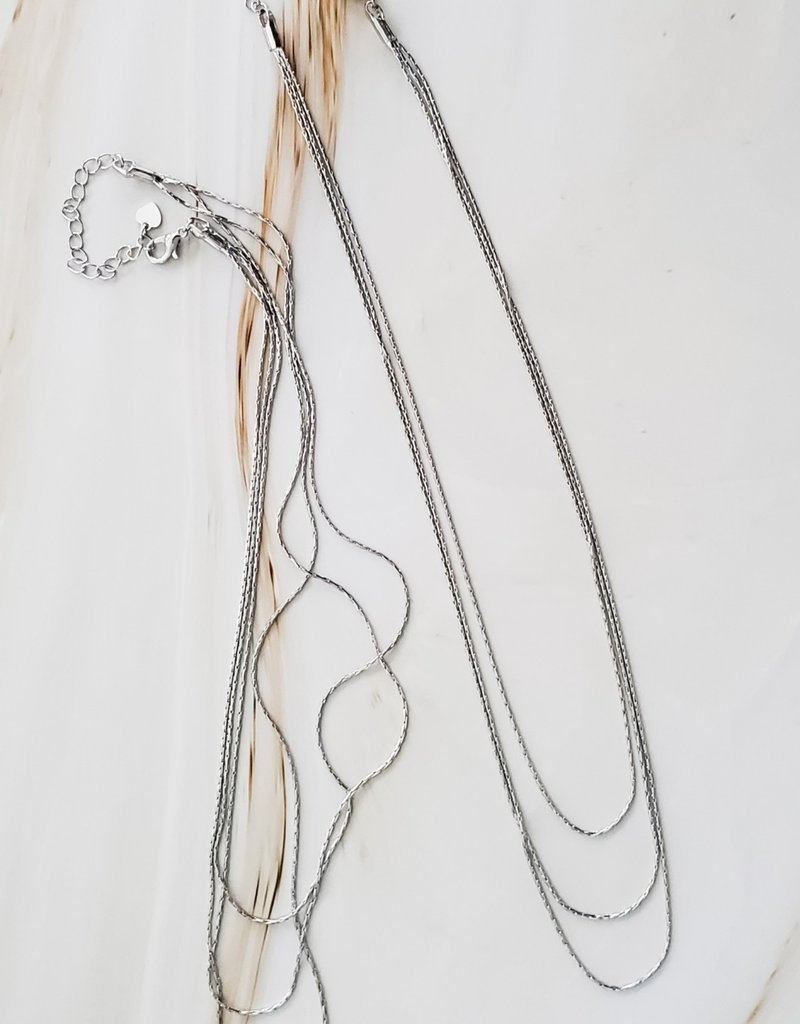 LUX Triple Weave Necklace
