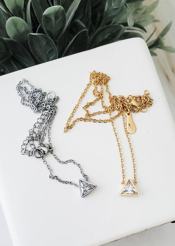 LUX Diamond Triad Necklace