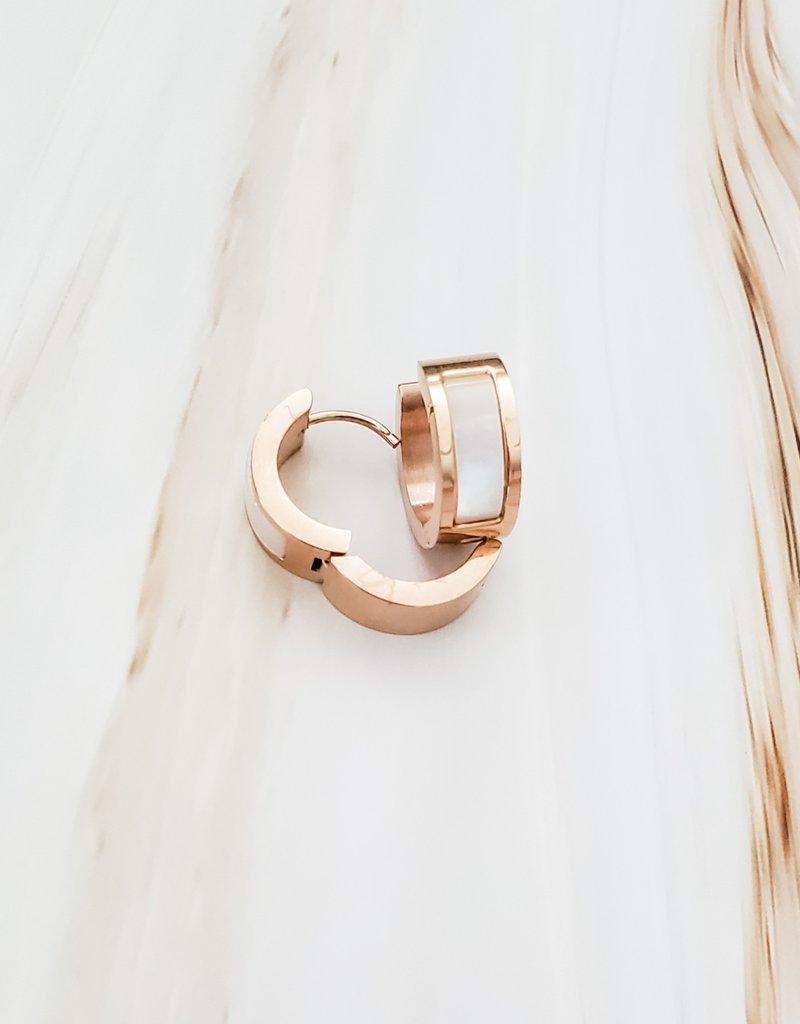 LUX Rosy Shell Hoop