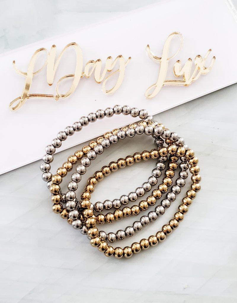 LUX Steel Beaded Bracelet