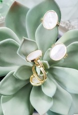 LUX Mother of Pearl Oval Ring