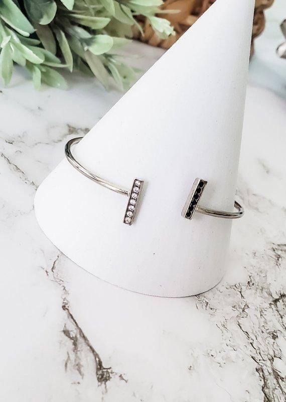 LUX Black Crystal Line Bracelet