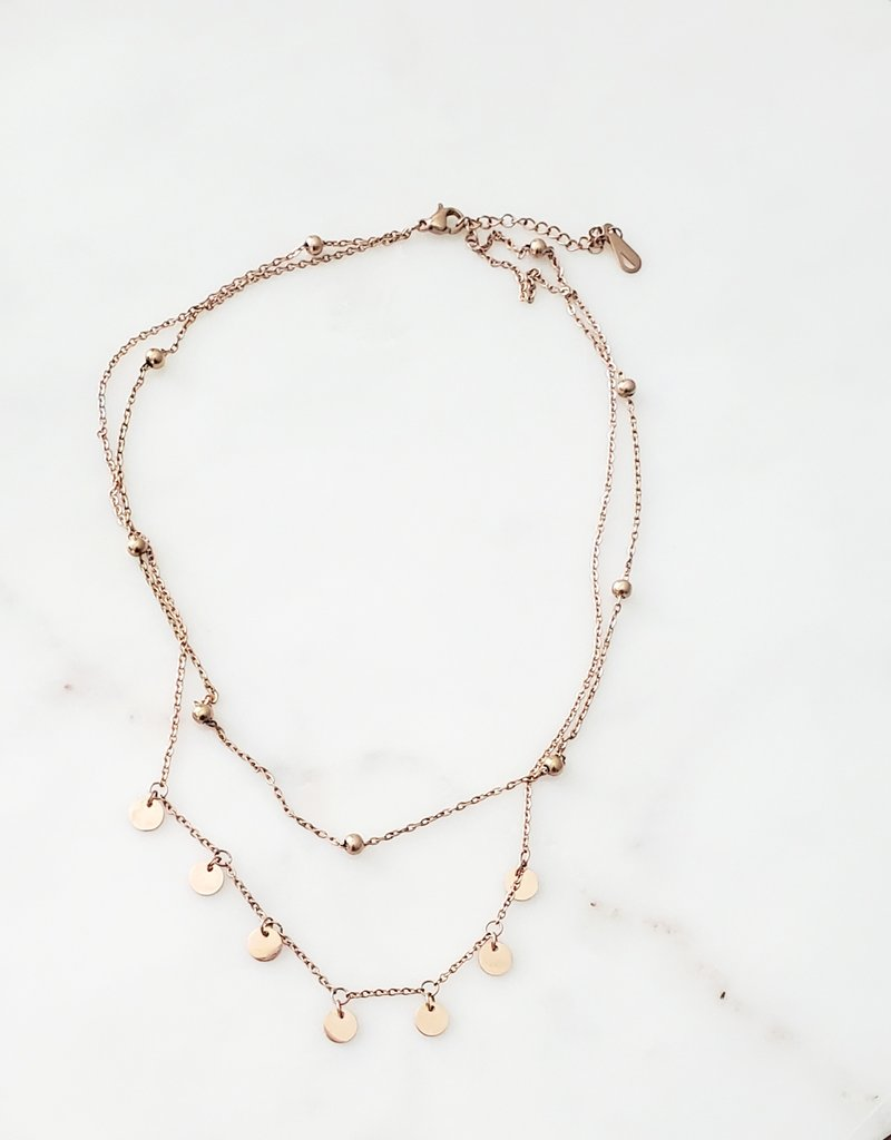 LUX Rosy Charm Necklace