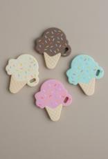 Three Hearts Modern Teething Accessories Ice Cream Silicone Teether