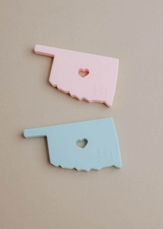 Three Hearts Modern Teething Accessories Oklahoma Silicone Teether